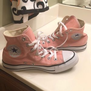 women's size 7/men's size 5 high-top pink converse